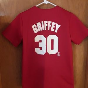 the latest 2932f a45f7 Ken Griffey JR #30 Reds Jersey youth size Large